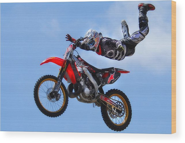 Sports Wood Print featuring the photograph Air Time by Craig Incardone
