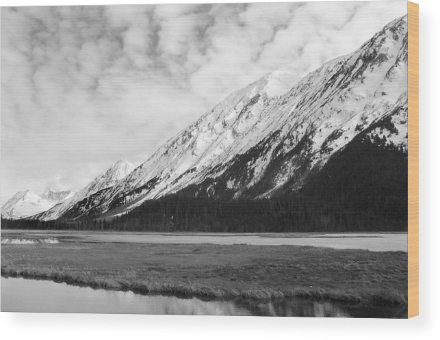 Mountains Wood Print featuring the photograph Alaska Mountains by Ty Nichols