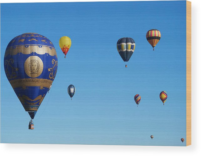 Albuquerque Wood Print featuring the photograph Albuquerque Balloon Festival 4 by Lawrence S Richardson Jr