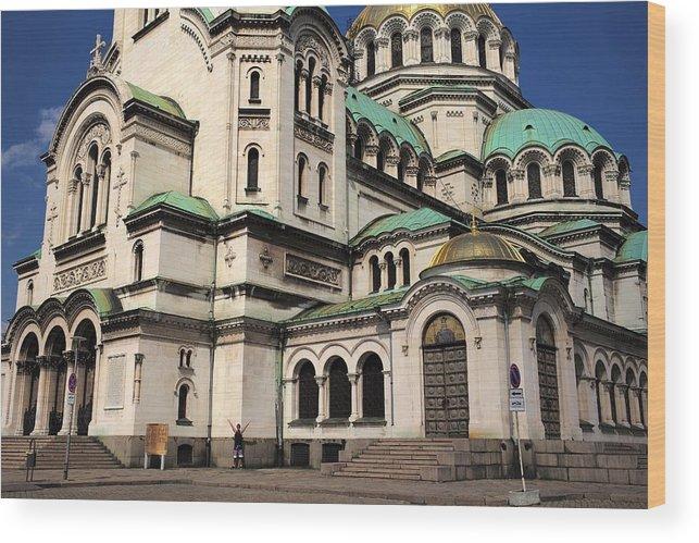 Sofia Wood Print featuring the photograph Alexander Nevsky Cathedral by Piotr Kuzniar