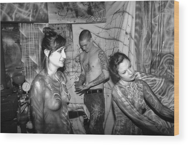 Body Paint Wood Print featuring the photograph Alien Transformation by Leigh Odom