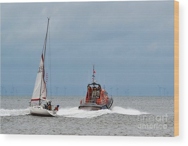 Landscape Wood Print featuring the photograph All At Sea by Michele Thulborn-Chapman