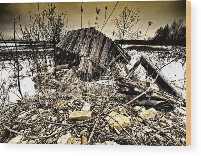 Barn Wood Print featuring the photograph All Fall Down.... by Russell Styles