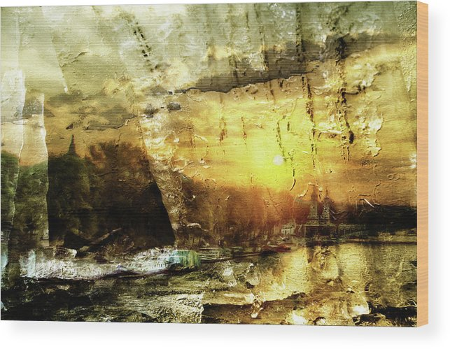 Amazing Wood Print featuring the digital art Amazing by Andrea Barbieri