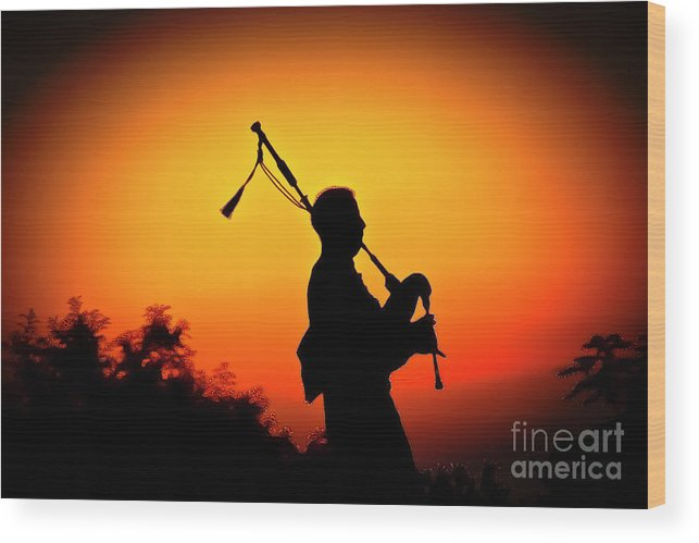 Sunset Wood Print featuring the photograph Amazing Grace by Jim Cazel