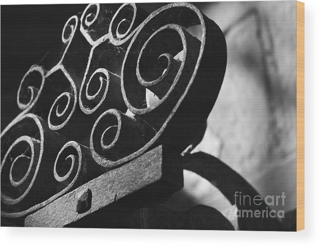Sconce Wood Print featuring the photograph An Old Decorative Sconce by Hideaki Sakurai
