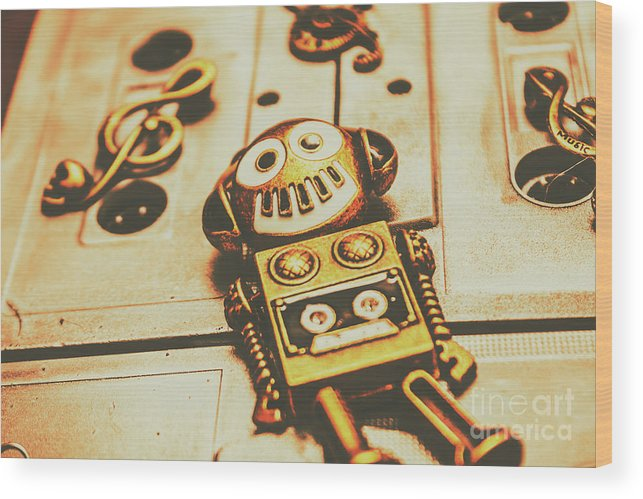 Music Wood Print featuring the photograph Android Rave by Jorgo Photography - Wall Art Gallery