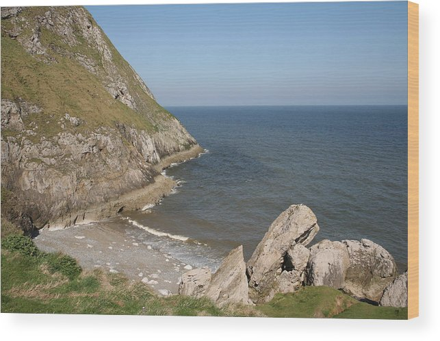 Cliffs Wood Print featuring the photograph Angel Bay. Little Orme. by Christopher Rowlands