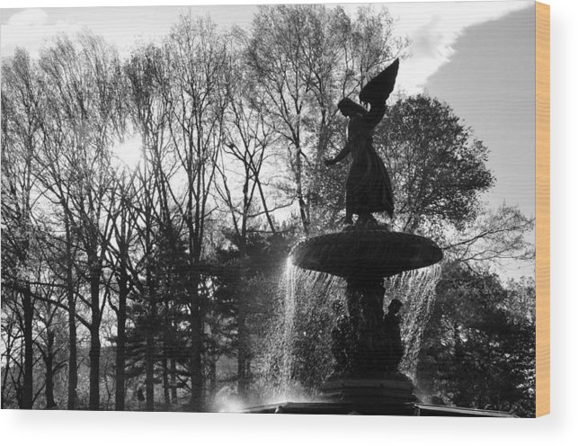 The Angel Of The Waters Wood Print featuring the photograph Angel Of The Waters by Andrew Dinh