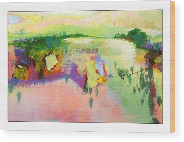 Landscape Wood Print featuring the painting Ann by Dale Witherow