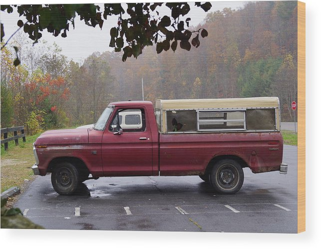 Truck Wood Print featuring the photograph Antique Truck by Phyllis Dabbs