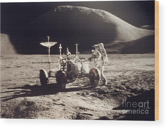 1971 Wood Print featuring the photograph Apollo 15, 1971 by Granger