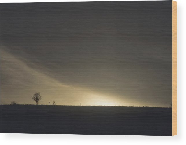 Night Wood Print featuring the photograph Approaching Night by Lynard Stroud