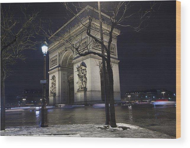 Arc De Triomphe Wood Print featuring the photograph Arc De Triomphe by Alexander Davydov