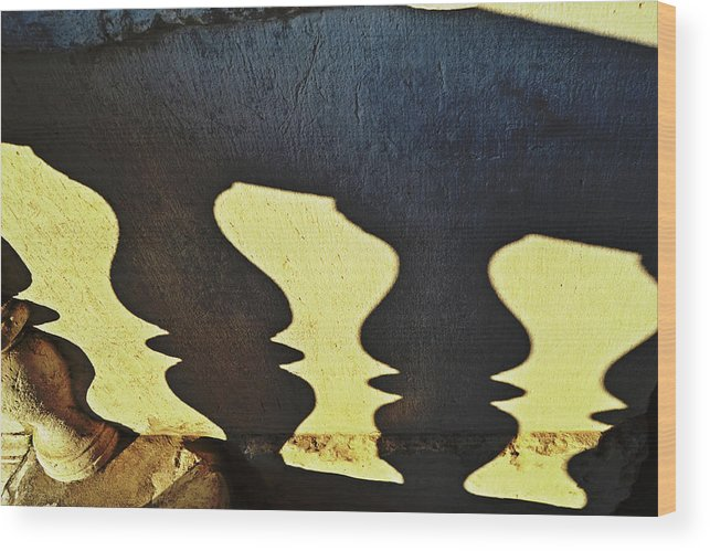 Architectural Wood Print featuring the photograph Architectural Shadows by Tinto Designs
