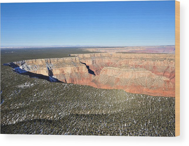 Grand Wood Print featuring the photograph Around The Edge by Tom Dowd