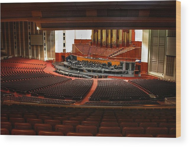 Mormon Wood Print featuring the photograph Assembly Hall Temple Square by Buck Buchanan