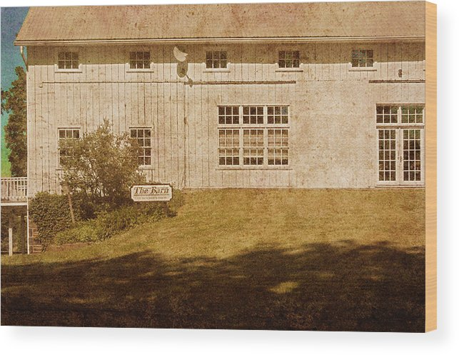 Landscape Wood Print featuring the photograph At Boone's Dam by Inesa Kayuta