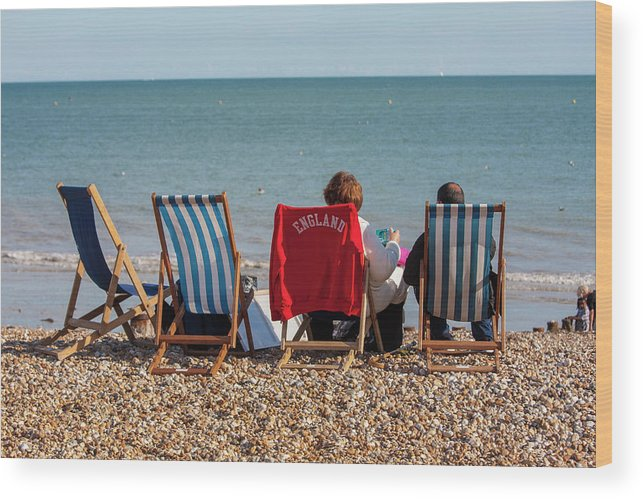 Beach Wood Print featuring the photograph At The Seaside by Julian Regan