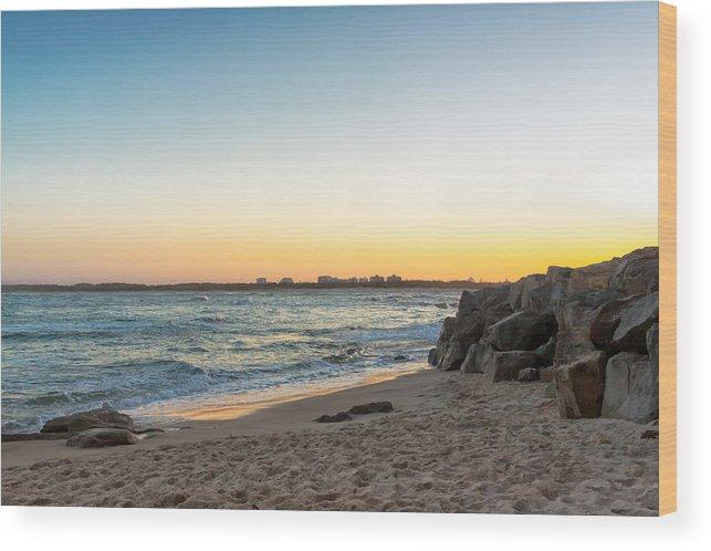 Australia Wood Print featuring the photograph Australian Beach Sunset by Jukka Heinovirta