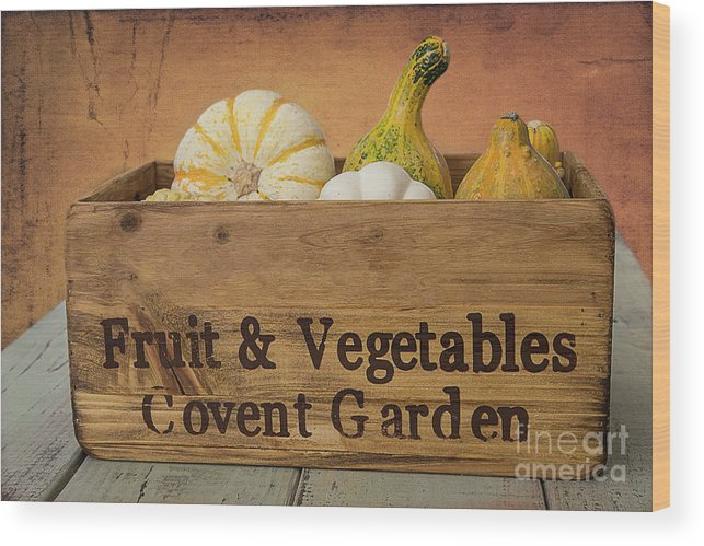 Harvest Wood Print featuring the digital art Autumn Harvest by Elisabeth Lucas