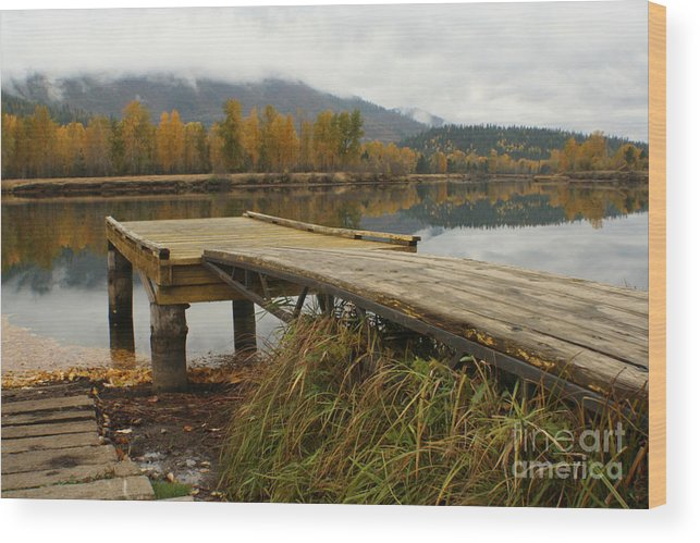 River Wood Print featuring the photograph Autumn On The River by Idaho Scenic Images Linda Lantzy