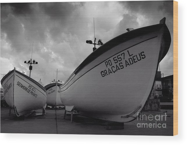 Azoren Wood Print featuring the photograph Azorean Fishing Boats by Gaspar Avila