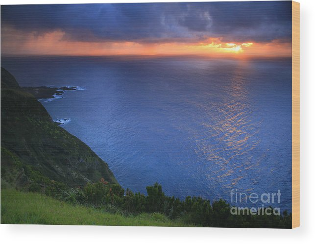 Island Wood Print featuring the photograph Azores Islands Sunset by Gaspar Avila