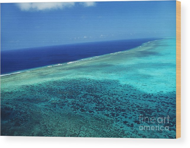 Above Wood Print featuring the photograph Babeldoap Islands by Allan Seiden - Printscapes