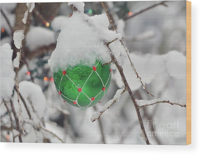 Christmas Wood Print featuring the photograph Baby It's Cold Outside by Richard Pross