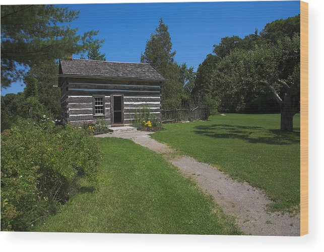 Canada Wood Print featuring the photograph Balls Falls Cabin by Ray Akey