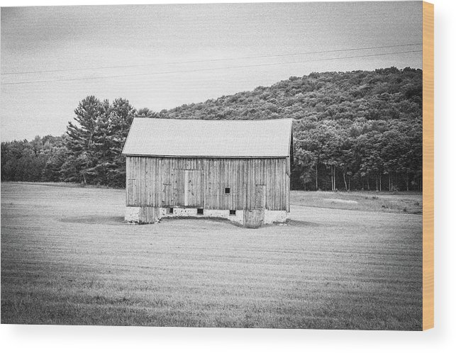 Barn Wood Print featuring the photograph Barn In Meadow by Keith Kadwell