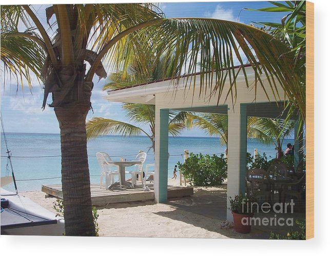 Beach Wood Print featuring the photograph Beach In Grand Turk by Debbi Granruth