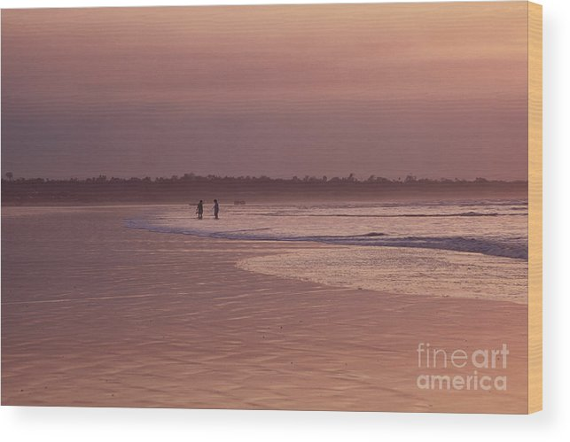 Ecuador Wood Print featuring the photograph Beachcombers by Kathy McClure