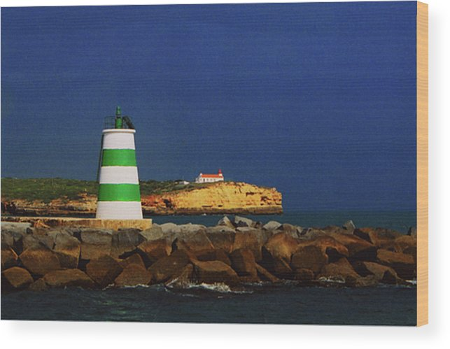 Lighthouse Wood Print featuring the photograph Beacon For Storms A Comin' by Rianna Stackhouse