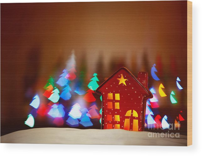 Art Wood Print featuring the photograph Beautiful Christmas Decor by Anna Om