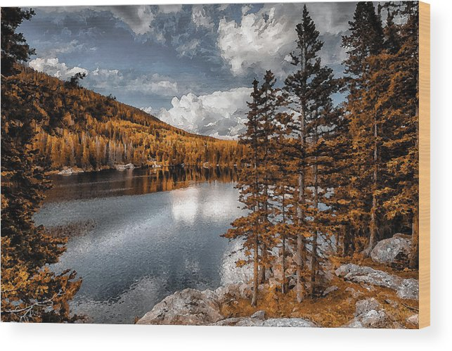 Tree Paintings Wood Print featuring the mixed media Beautiful Wilderness by Garett Gabriel