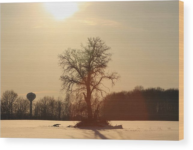 Landscape Wood Print featuring the photograph Before The Sun Sets by Bruce McEntyre