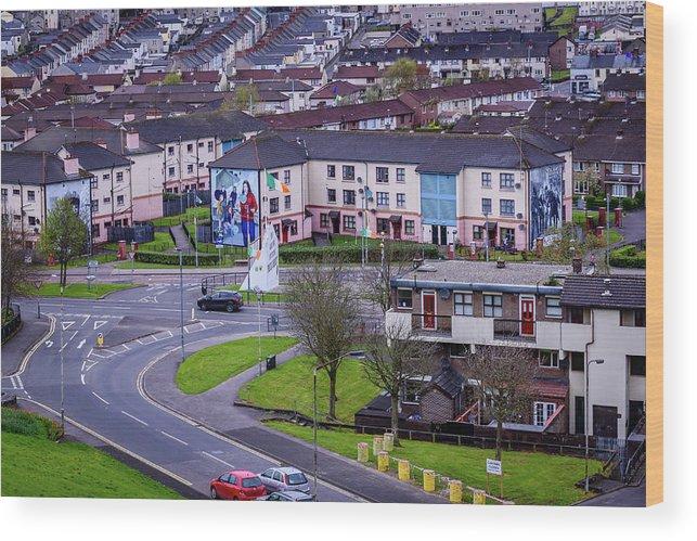 Belfast Wood Print featuring the photograph Belfast Mural - Derry Neighborhood - Ireland by Jon Berghoff
