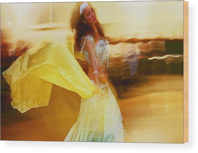 Dane Wood Print featuring the photograph Belly Dancer by Robert Ullmann