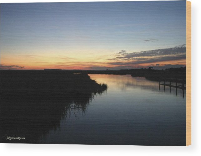 Wood Print featuring the photograph Bend In The River by Bonnes Eyes Fine Art Photography