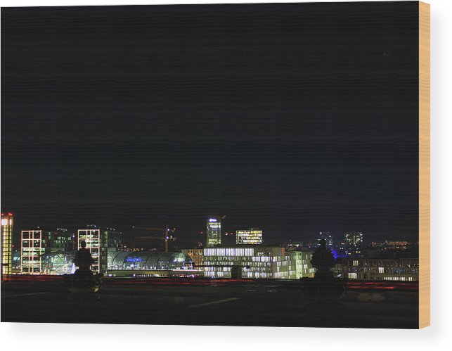 Berlin Wood Print featuring the photograph Berlin City by Matteo Patti