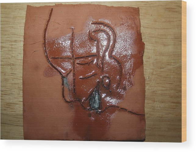 Jesus Wood Print featuring the ceramic art Betrayal - Tile by Gloria Ssali