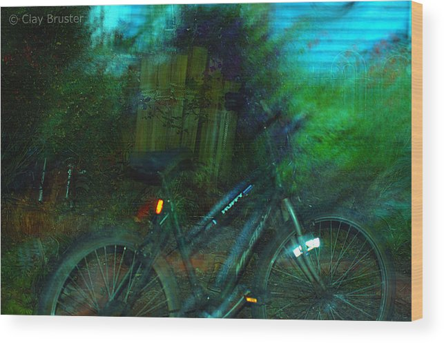Clay Wood Print featuring the photograph Bicycle by Clayton Bruster