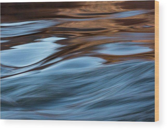 Colorado River Wood Print featuring the photograph Big Bend Rapid by Deborah Hughes
