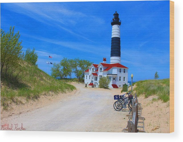 Lighthouse Wood Print featuring the photograph Big Sable Point Lighthouse by Michael Rucker