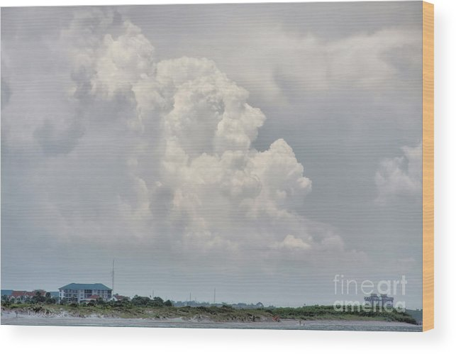 Clouds Wood Print featuring the photograph Big White And Puffy by Deborah Benoit