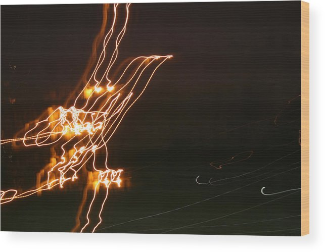 Abstract Wood Print featuring the photograph Bird Lights by Joshua Sunday
