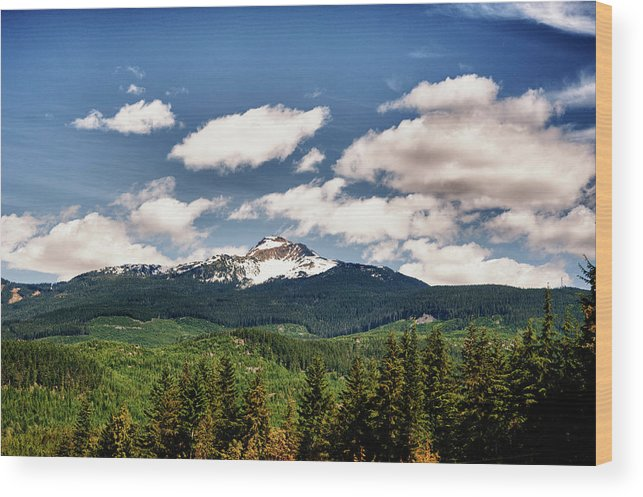 Hdr Wood Print featuring the photograph Black Comb Glacier In Hdr by Frank Feliciano