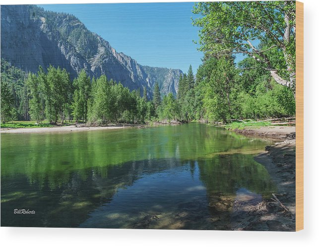 California Wood Print featuring the photograph Blue And Green River by Bill Roberts